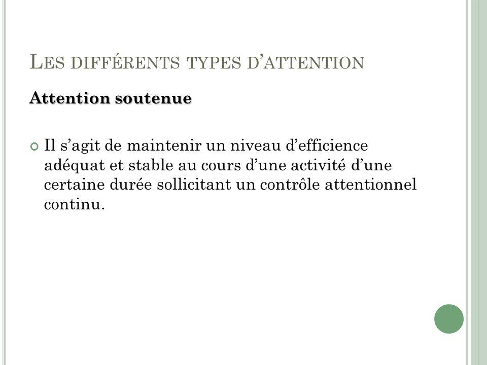 Les différents types d'attention