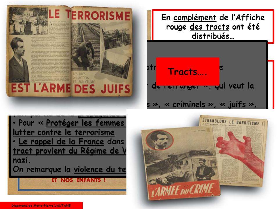 En complément de l'Affiche rouge des tracts ont été distribués…