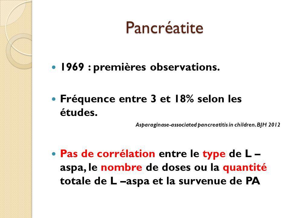Pancréatite 1969 : premières observations.