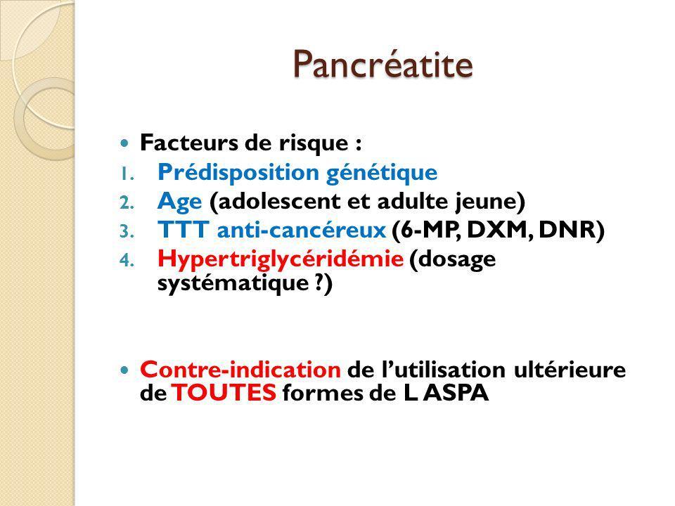 Pancréatite Facteurs de risque : Prédisposition génétique