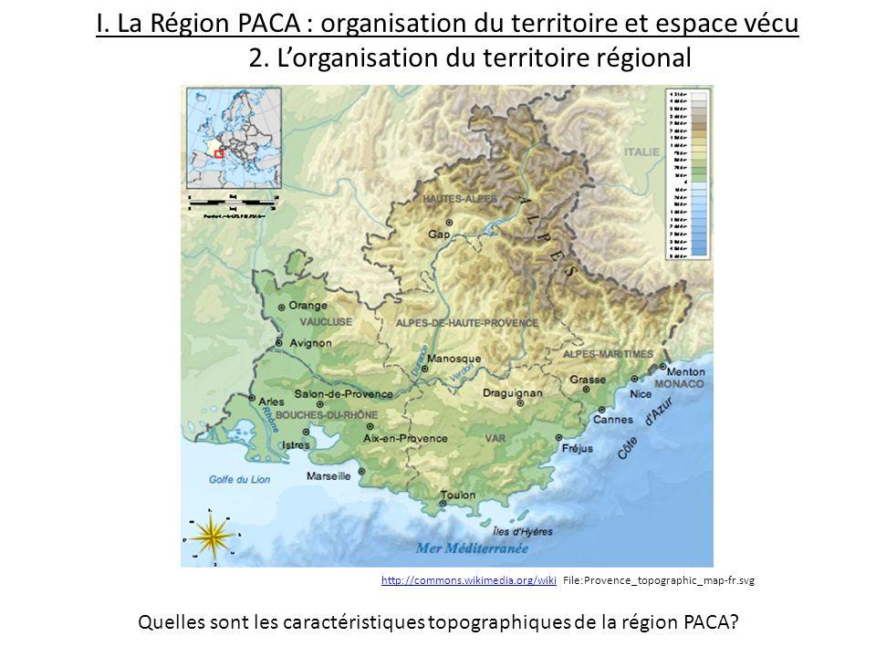 Quelles sont les caractéristiques topographiques de la région PACA