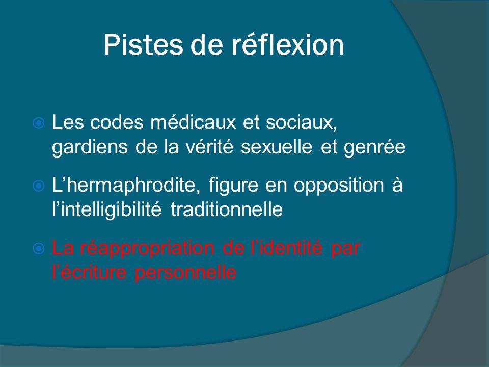 Pistes de réflexion Les codes médicaux et sociaux, gardiens de la vérité sexuelle et genrée.