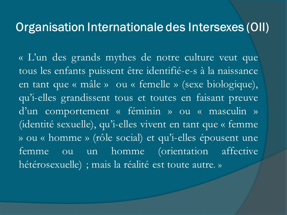 Organisation Internationale des Intersexes (OII)