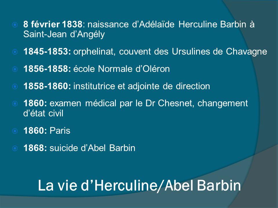 La vie d'Herculine/Abel Barbin