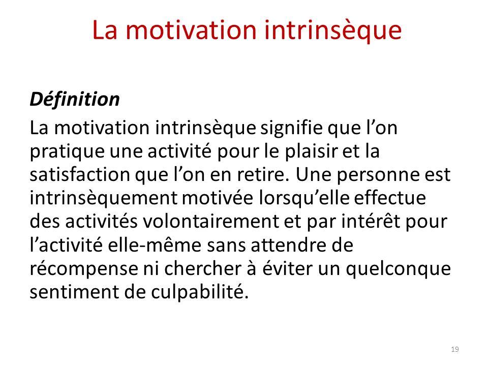 La motivation intrinsèque