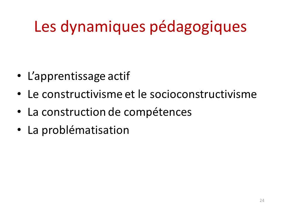 Les dynamiques pédagogiques