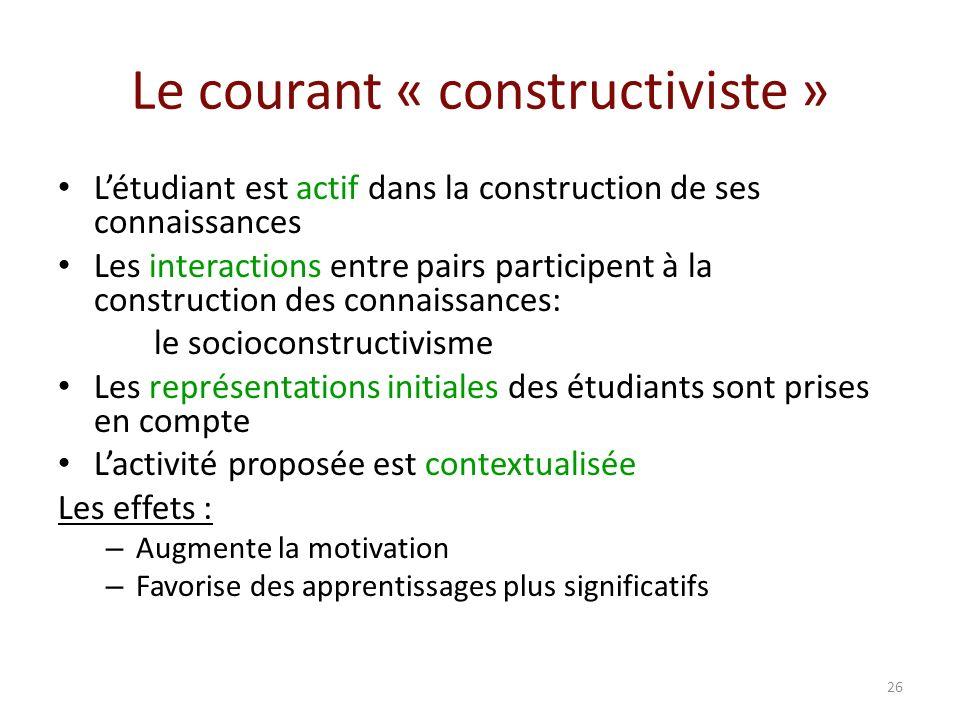 Le courant « constructiviste »