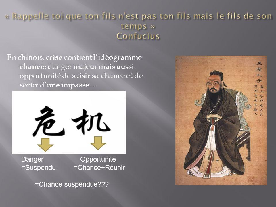 « Rappelle toi que ton fils n'est pas ton fils mais le fils de son temps » Confucius