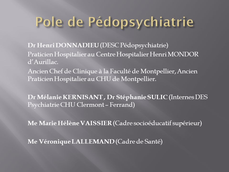 Pole de Pédopsychiatrie
