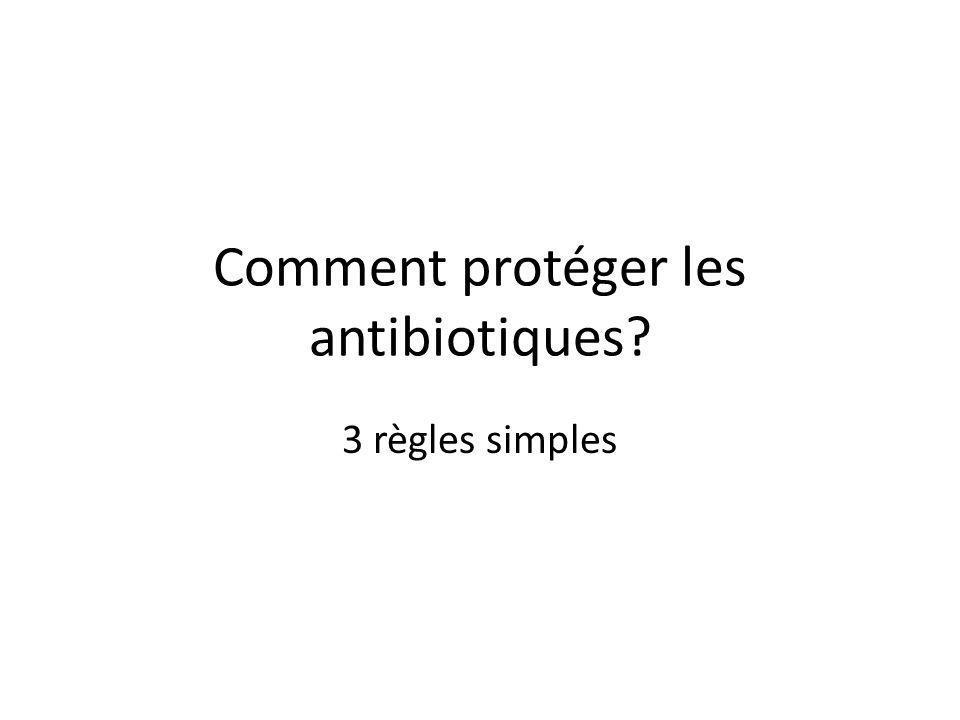 Comment protéger les antibiotiques