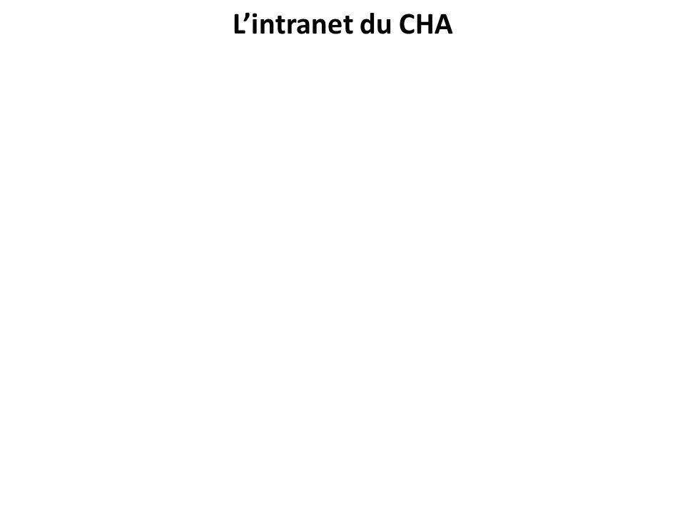 L'intranet du CHA