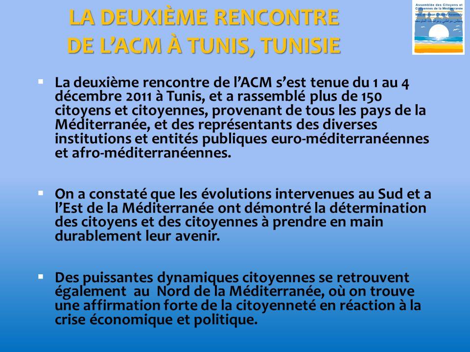 LA DEUXIÈME RENCONTRE DE L'ACM À TUNIS, TUNISIE