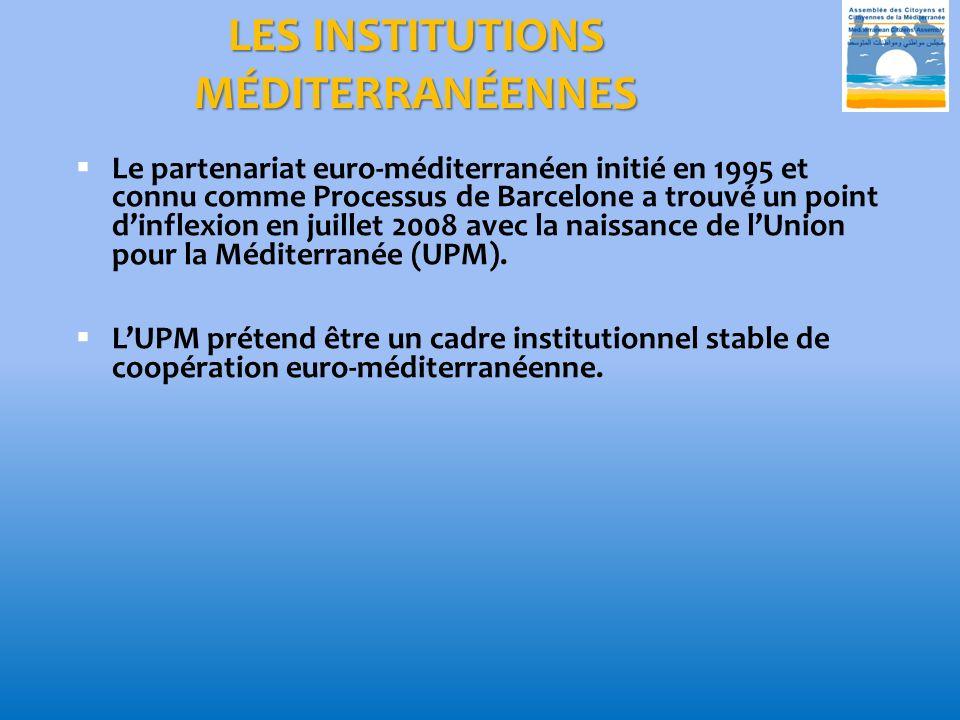 LES INSTITUTIONS MÉDITERRANÉENNES