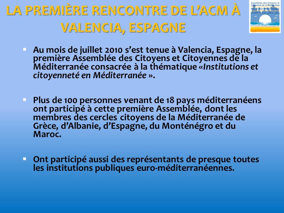 LA PREMIÈRE RENCONTRE DE L'ACM À VALENCIA, ESPAGNE