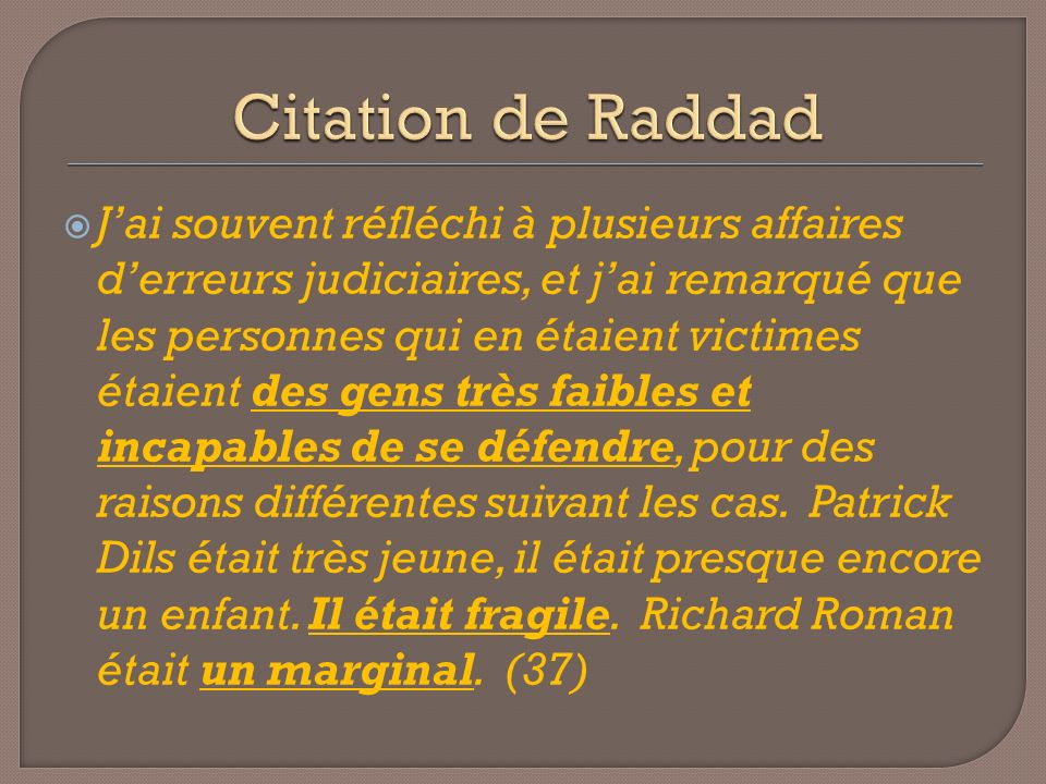 Citation de Raddad
