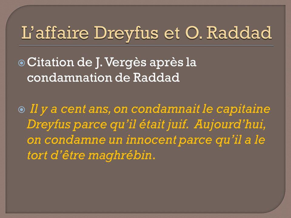 L'affaire Dreyfus et O. Raddad