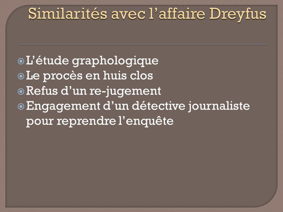 Similarités avec l'affaire Dreyfus