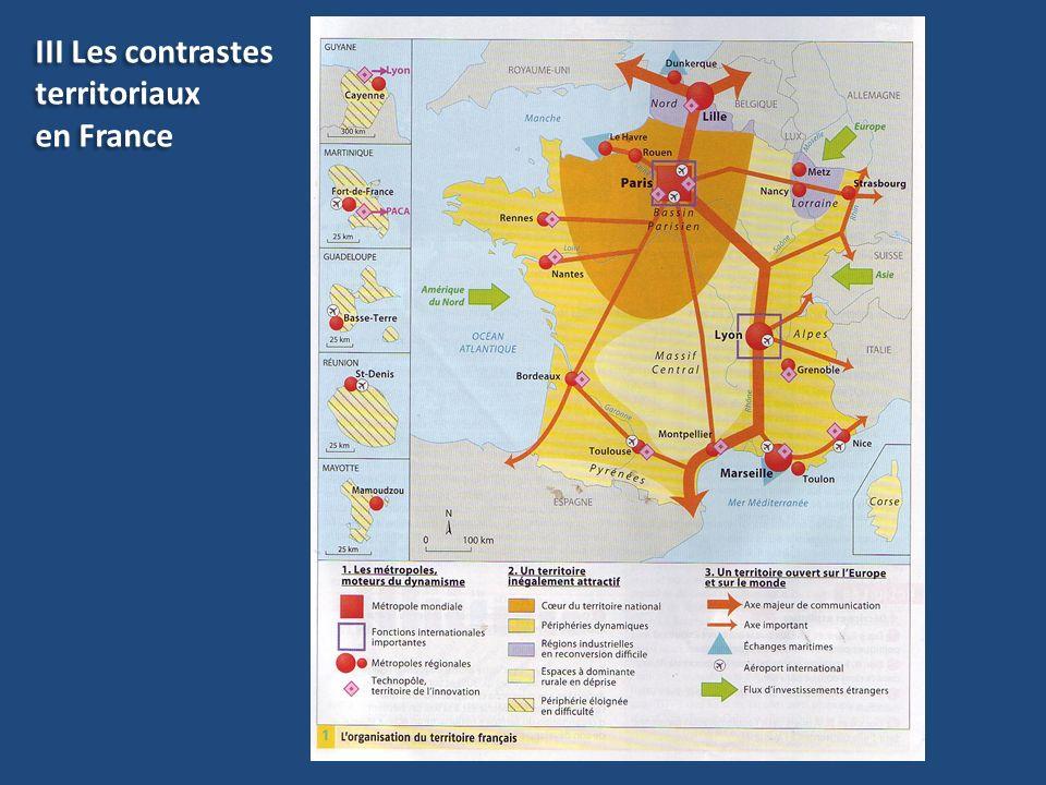 III Les contrastes territoriaux en France