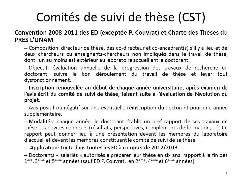 Comités de suivi de thèse (CST)