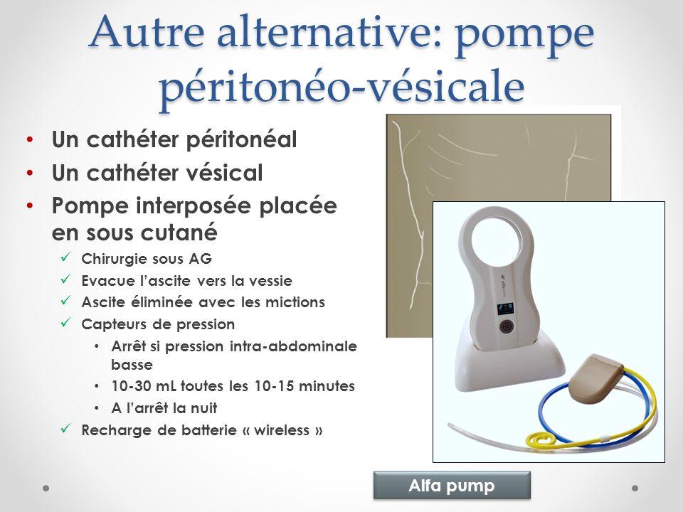 Autre alternative: pompe péritonéo-vésicale