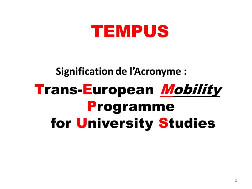 Trans-European Mobility Programme for University Studies