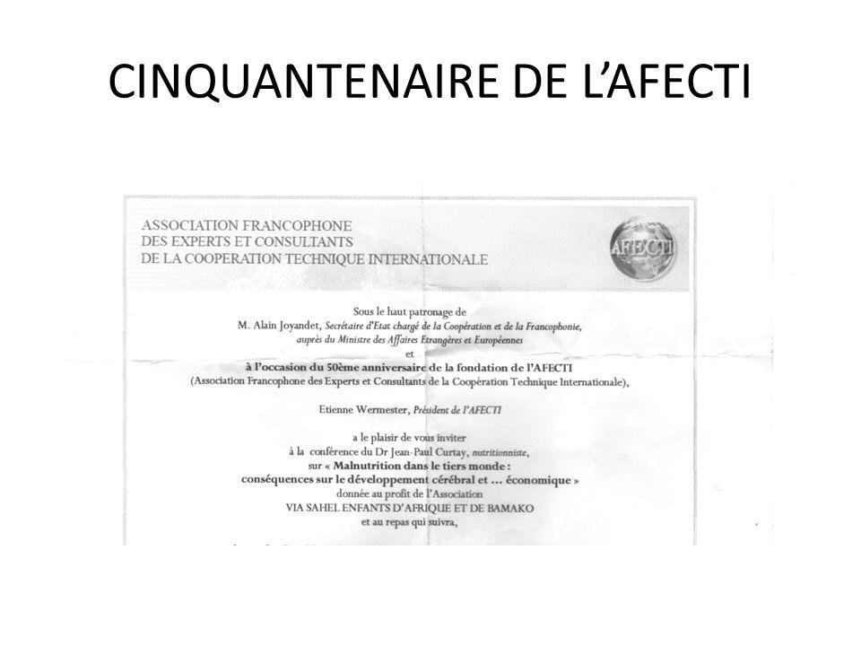 CINQUANTENAIRE DE L'AFECTI
