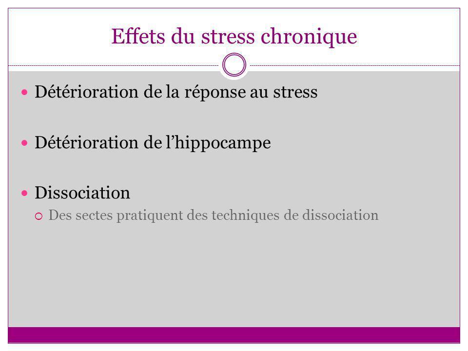 Effets du stress chronique