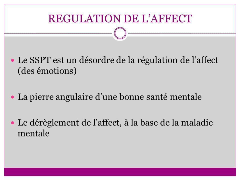 REGULATION DE L'AFFECT