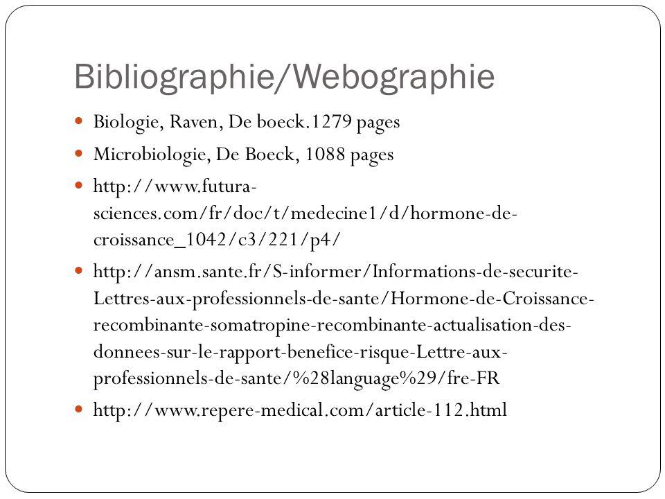 Bibliographie/Webographie