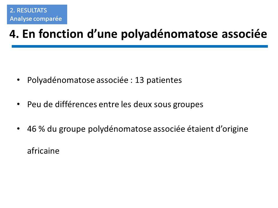 4. En fonction d'une polyadénomatose associée