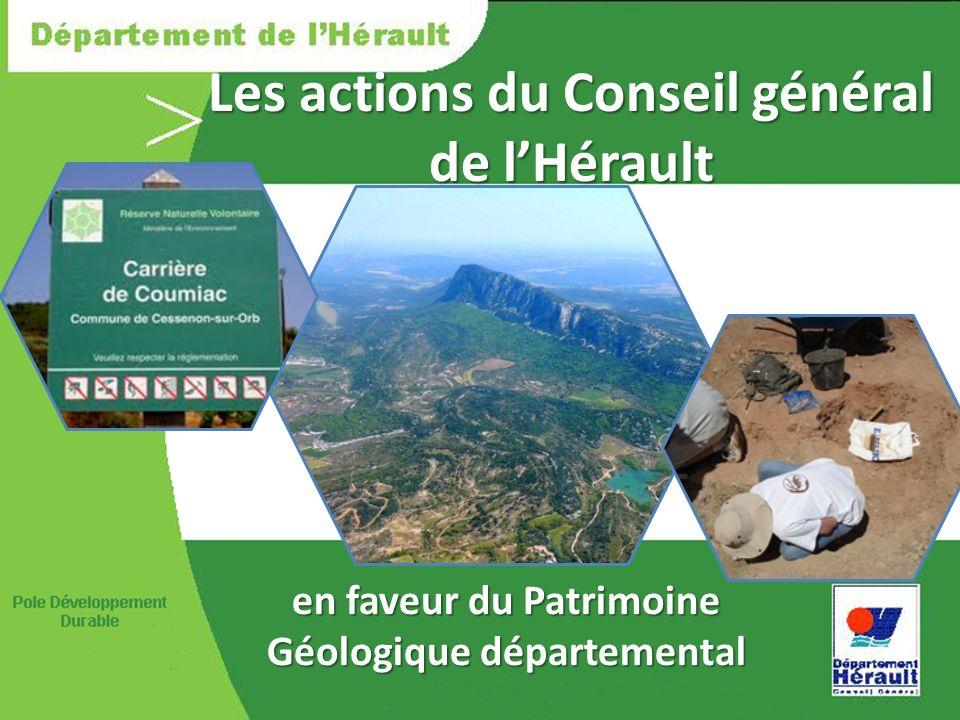 Les actions du Conseil général de l'Hérault