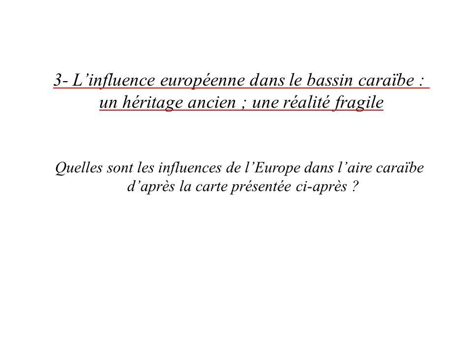 3- L'influence européenne dans le bassin caraïbe :