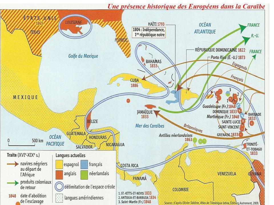Une présence historique des Européens dans la Caraïbe