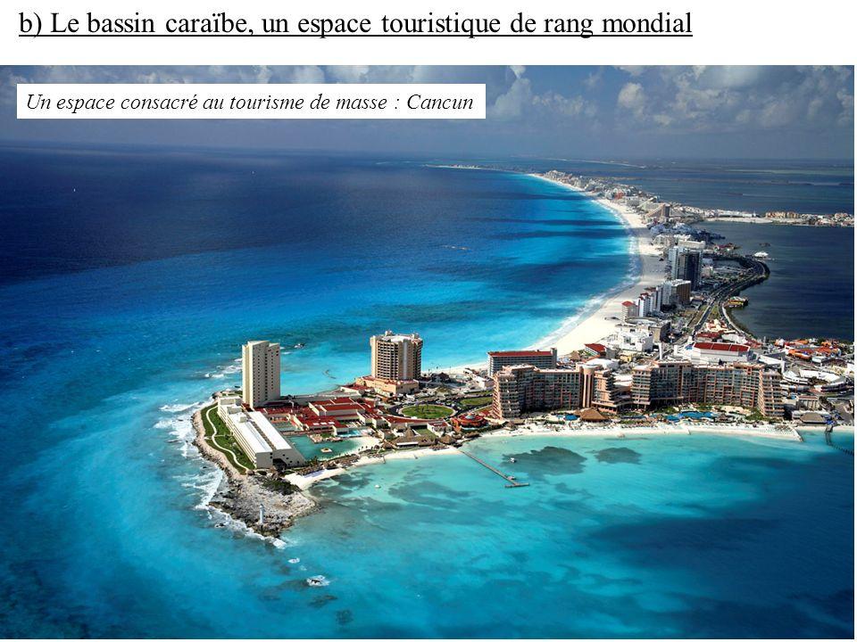 b) Le bassin caraïbe, un espace touristique de rang mondial
