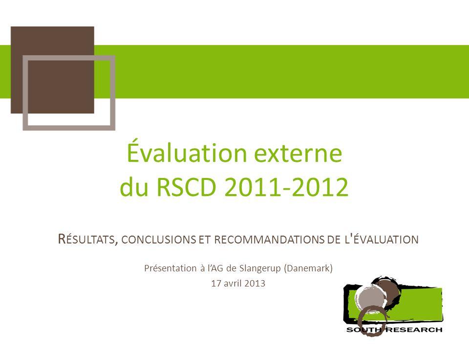 Évaluation externe du RSCD 2011-2012