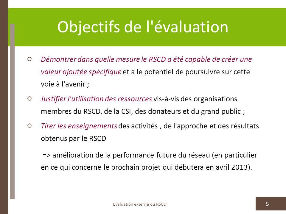Objectifs de l évaluation