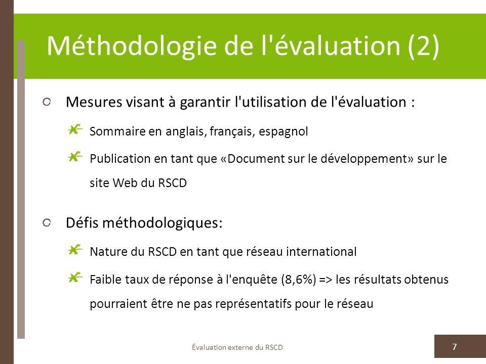 Méthodologie de l évaluation (2)