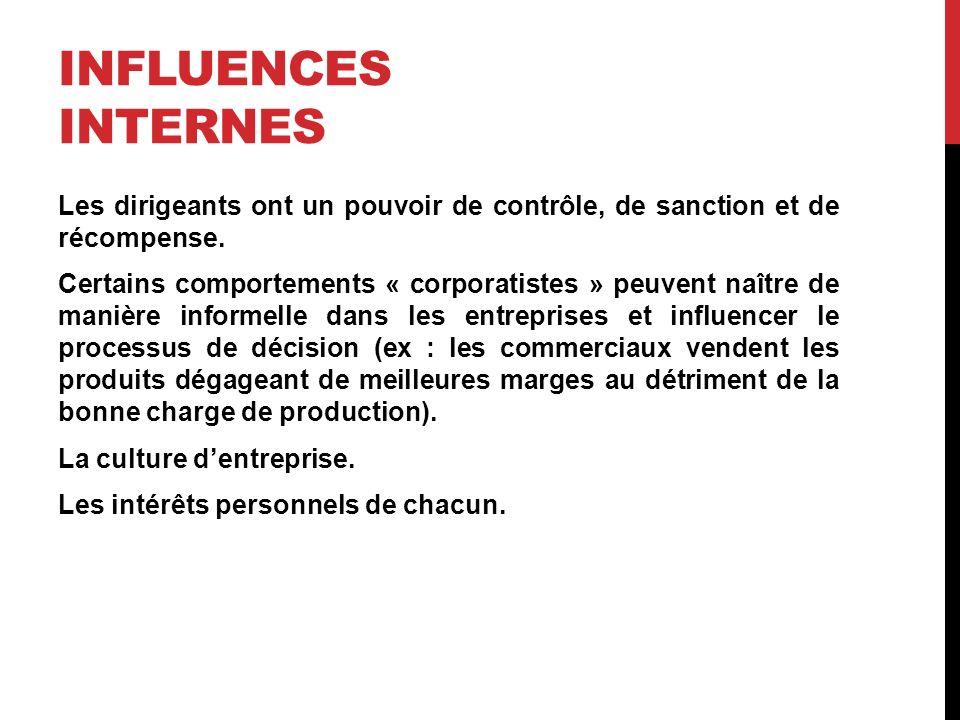 Influences internes