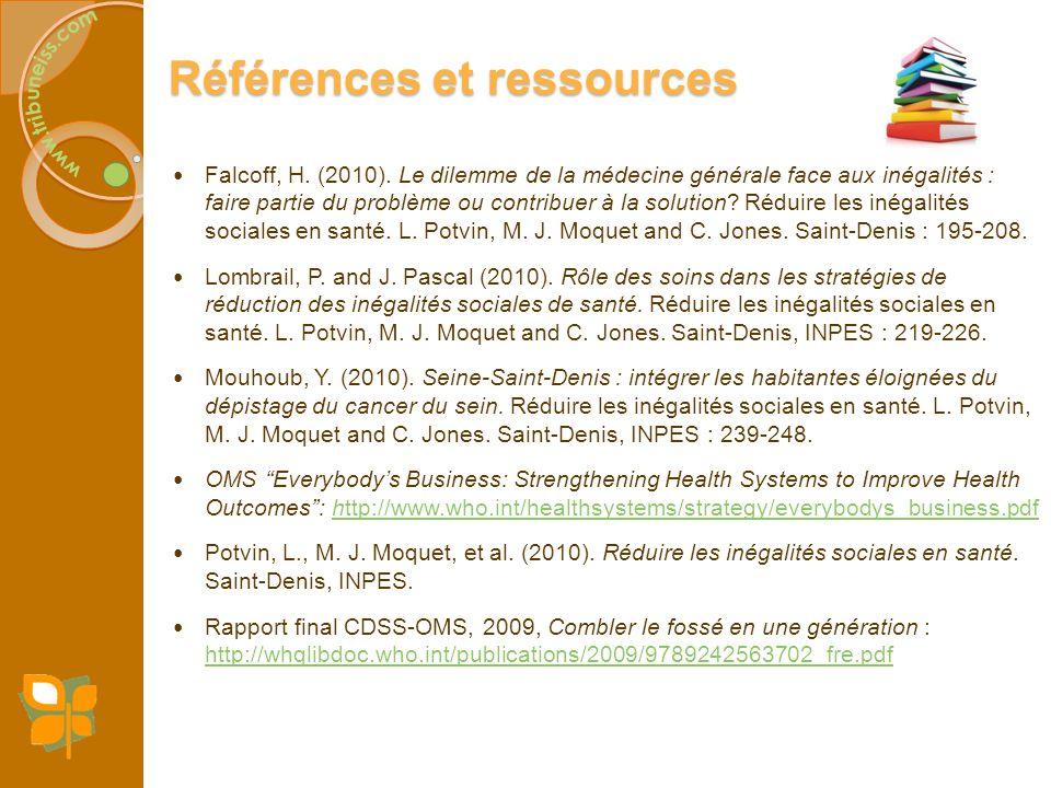 Références et ressources