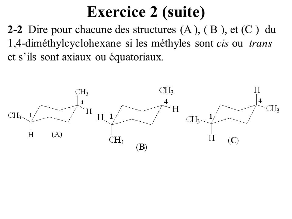 Exercice 2 (suite)