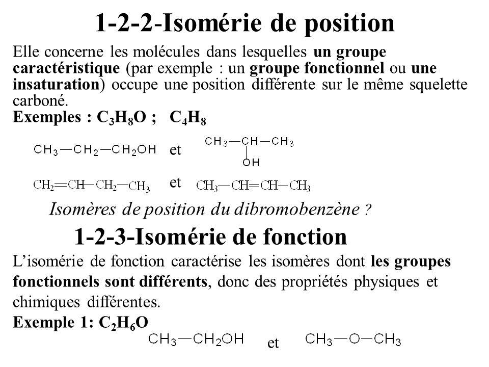 1-2-2-Isomérie de position