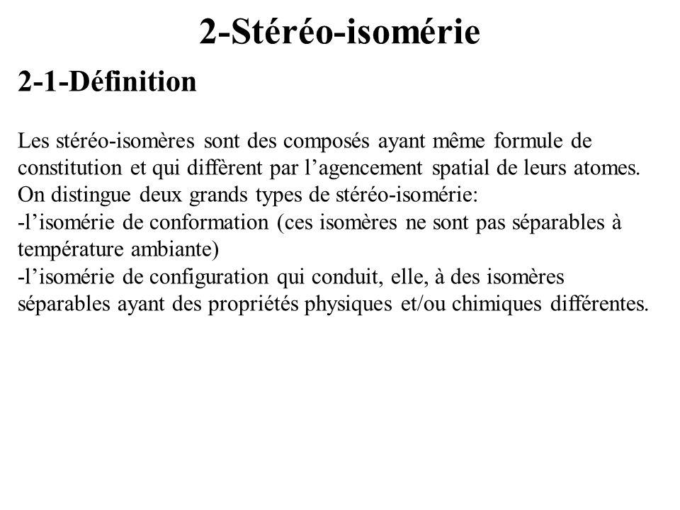 2-Stéréo-isomérie 2-1-Définition