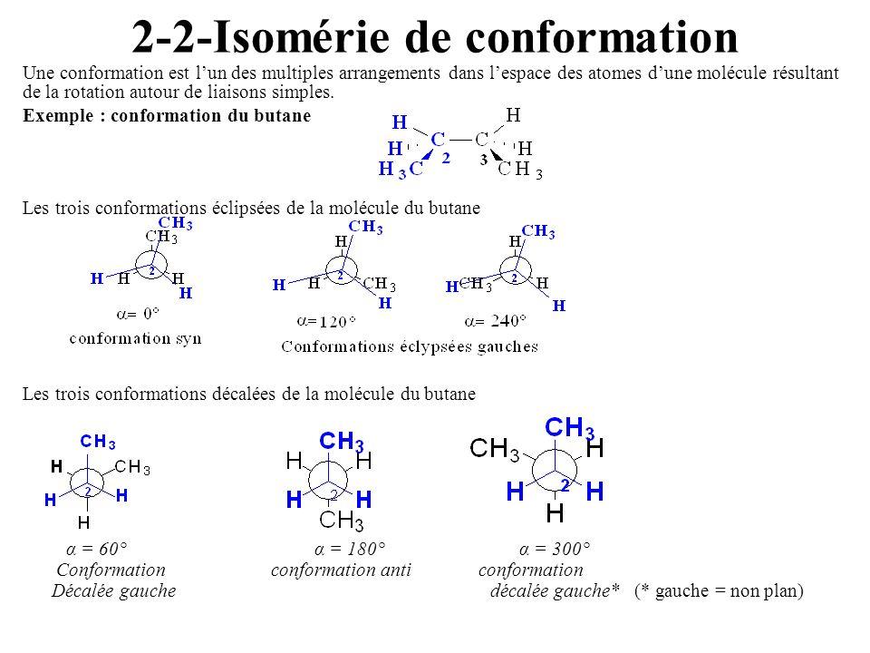 2-2-Isomérie de conformation