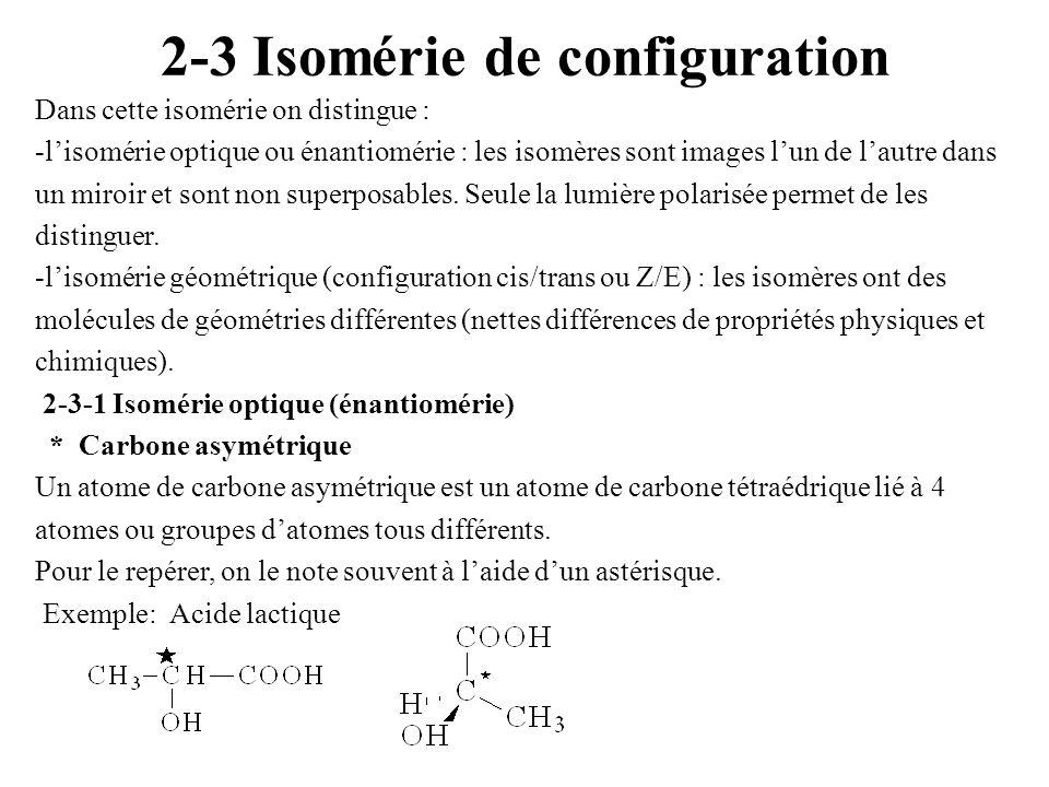 2-3 Isomérie de configuration