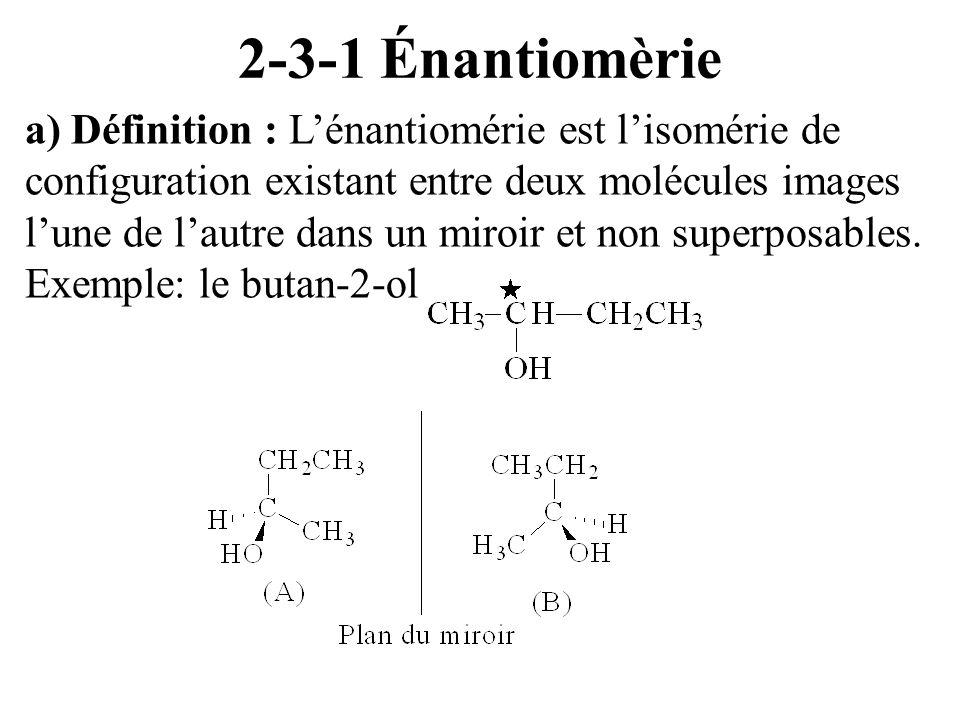 2-3-1 Énantiomèrie