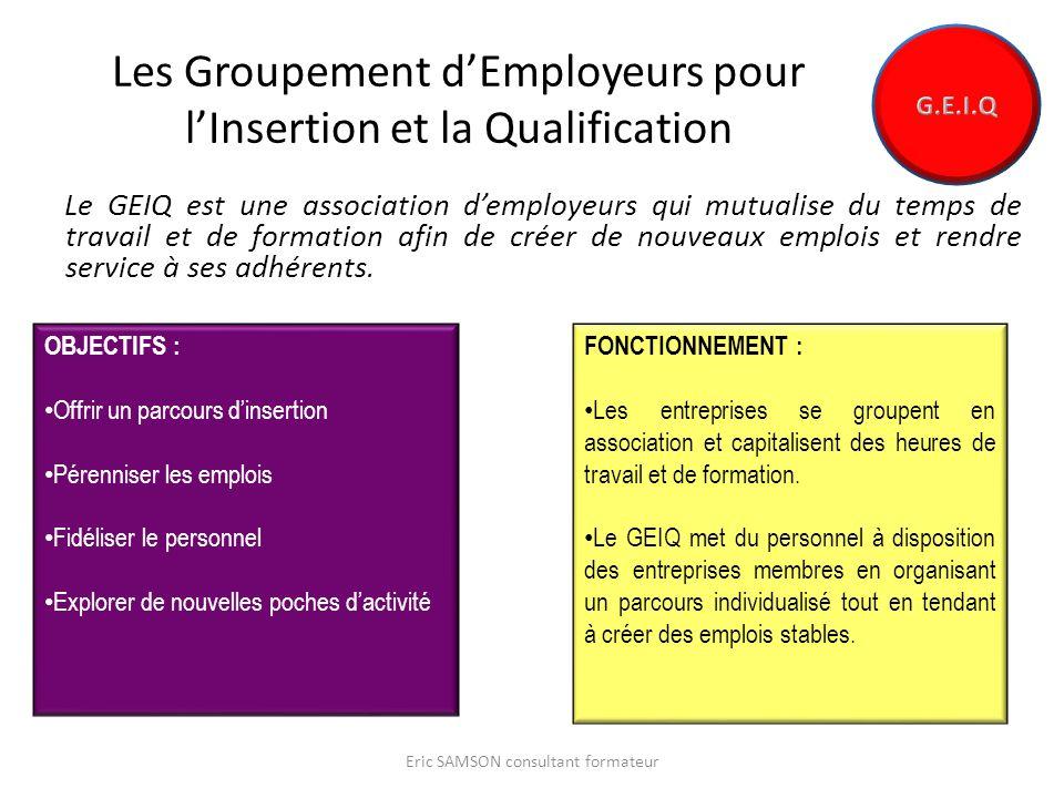 Les Groupement d'Employeurs pour l'Insertion et la Qualification