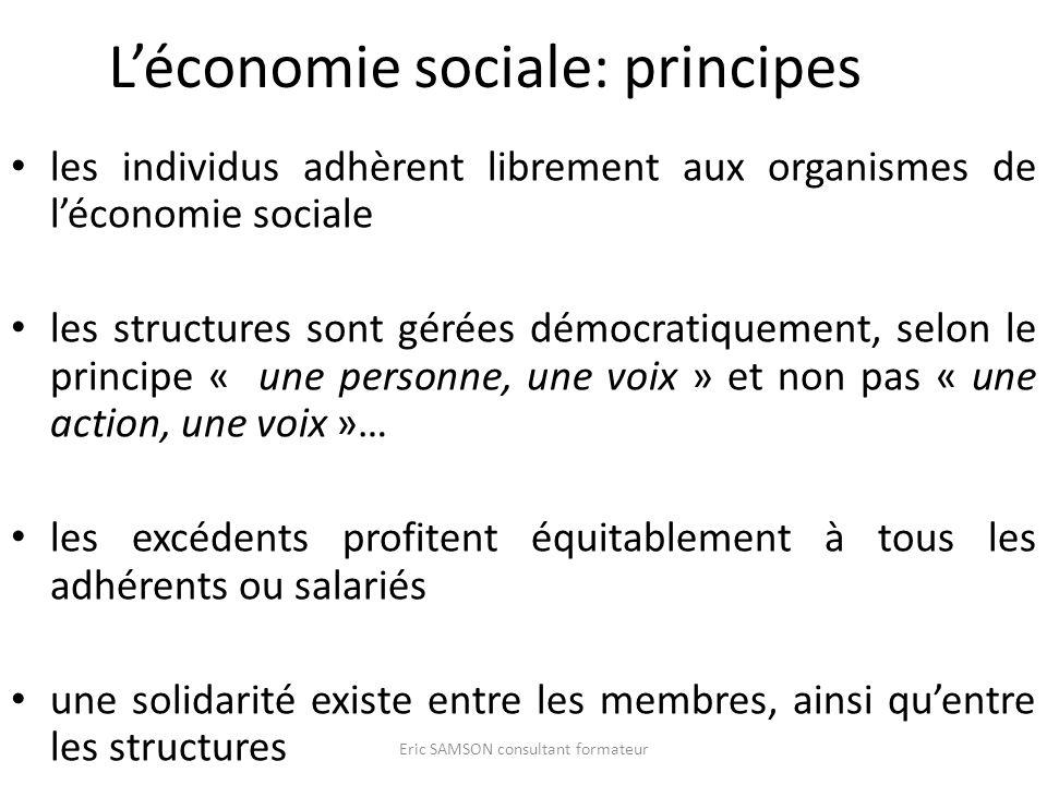 L'économie sociale: principes