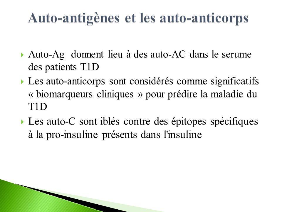 Auto-antigènes et les auto-anticorps