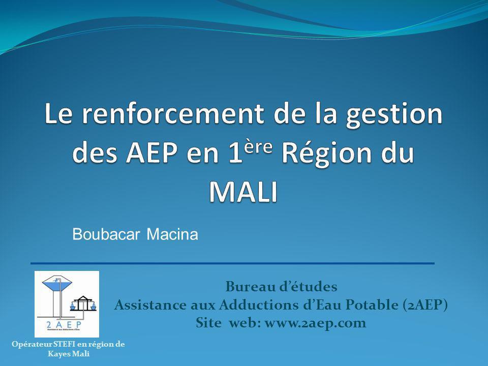 Le renforcement de la gestion des AEP en 1ère Région du MALI