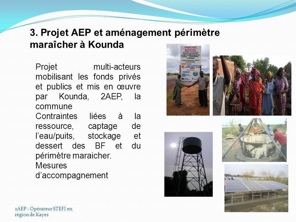 3. Projet AEP et aménagement périmètre maraîcher à Kounda
